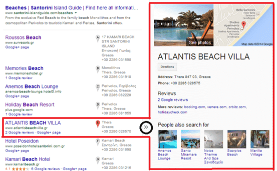 local search engine result
