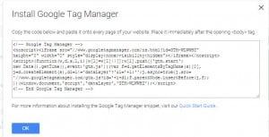 הוספת קוד גוגל תג מנג'ל