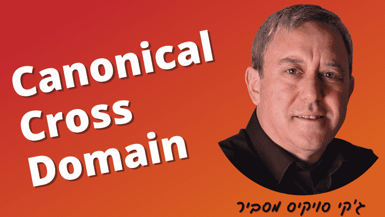 מה זה Canonical cross domain